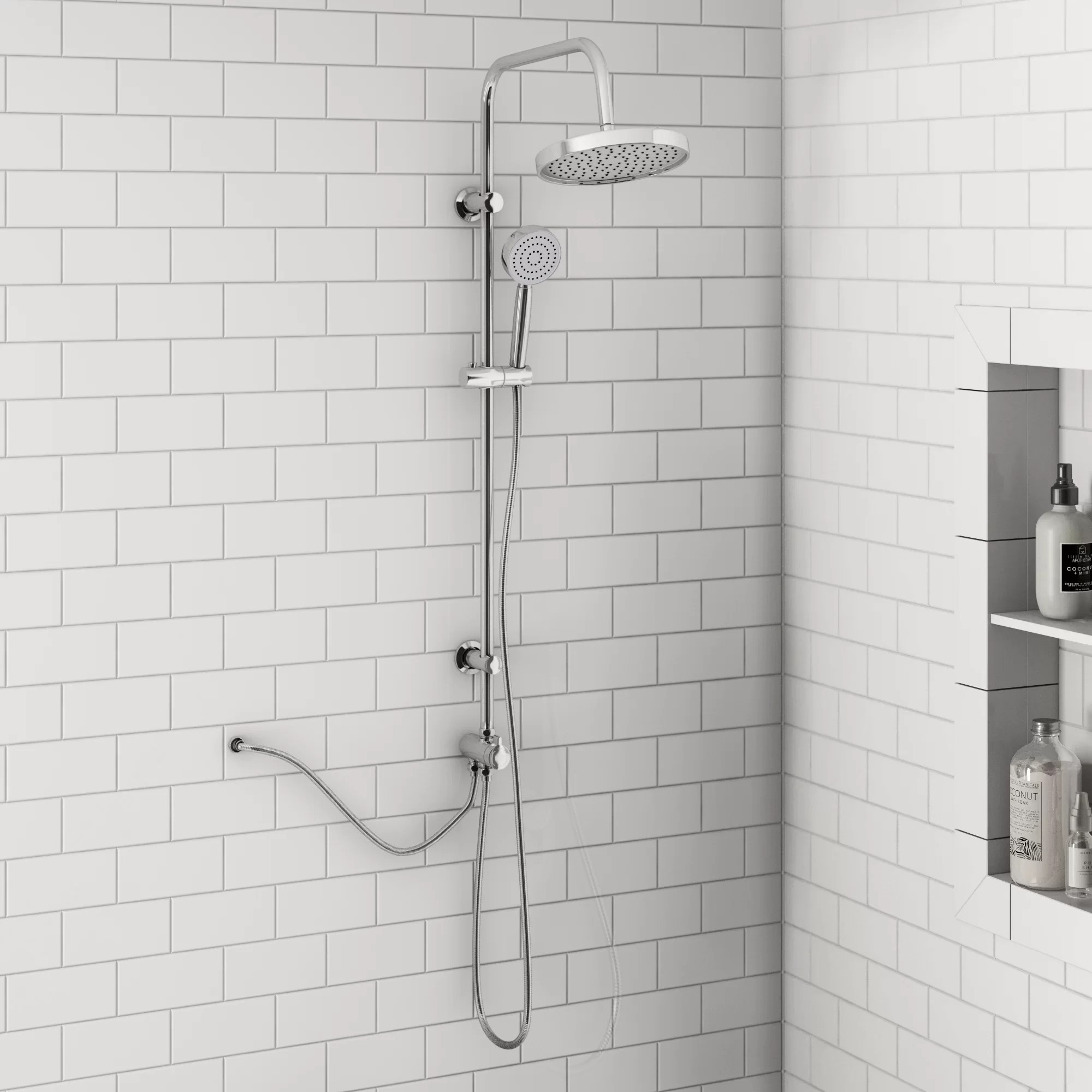 Areli Mixer Shower With Dual Shower Head