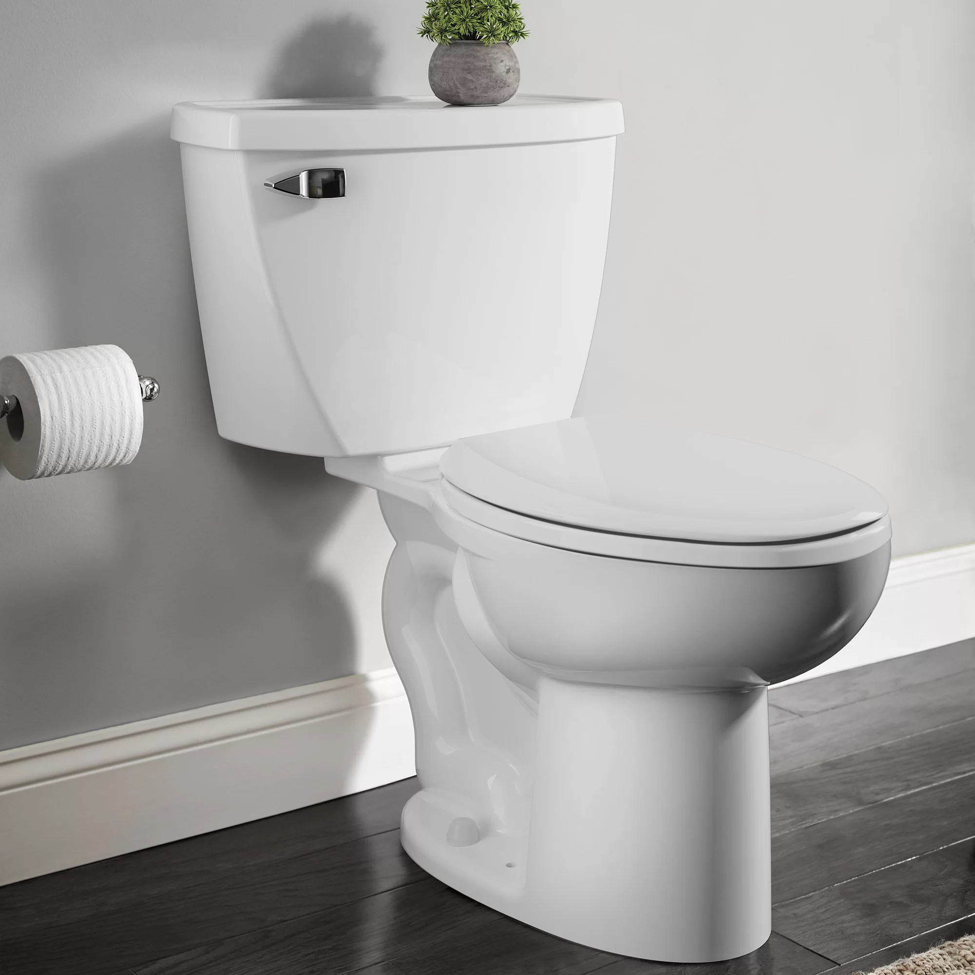 American Standard Cadet 1 6 Gpf Elongated Two Piece Toilet Seat Not Included Reviews Wayfair