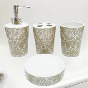 coral bathroom accessories | wayfair