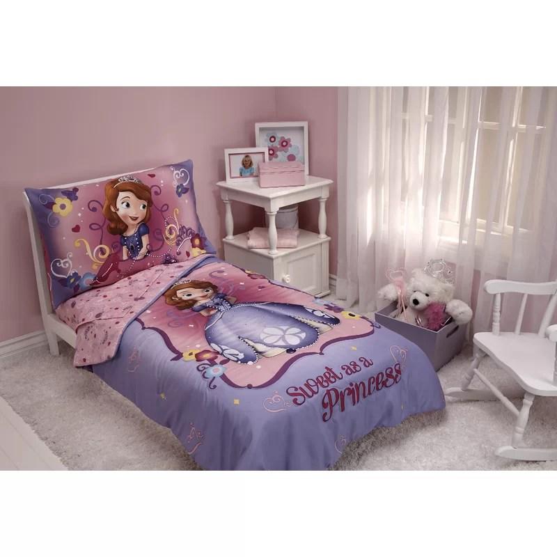 sweet as a princess 4 piece toddler bedding set