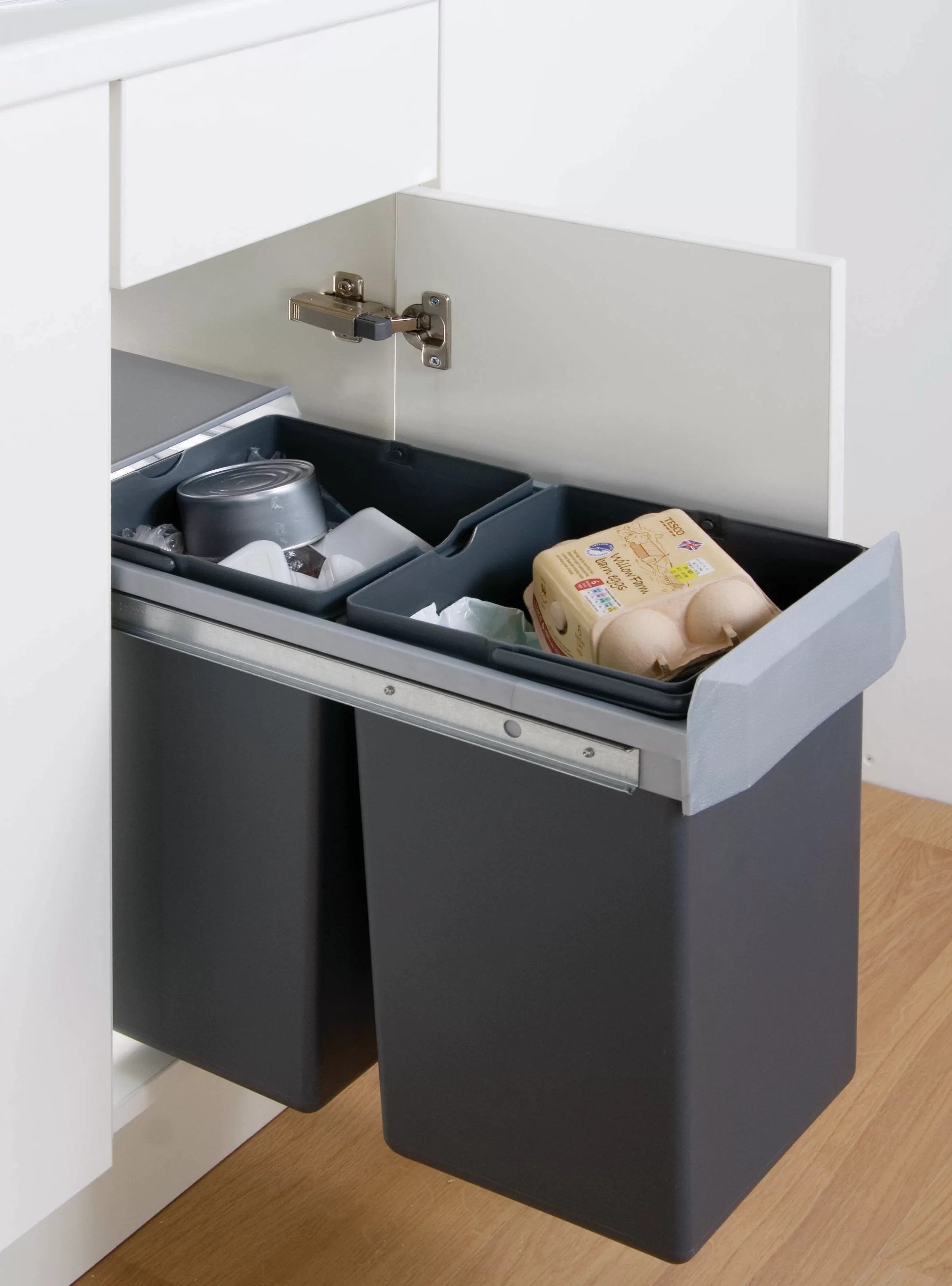 double boy 30 litre multi compartments rubbish and recycling bin
