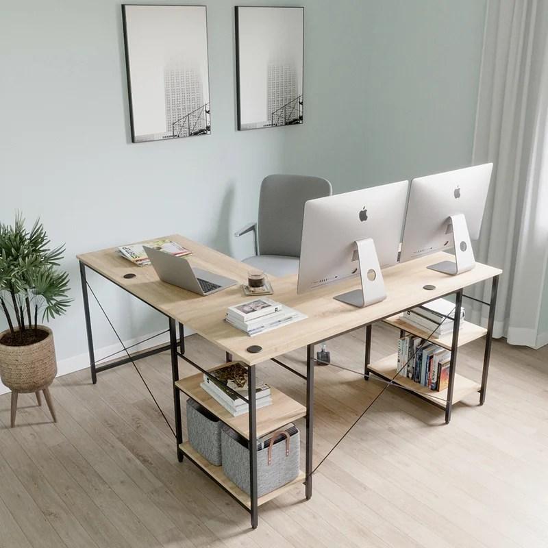 fortson l shape desk