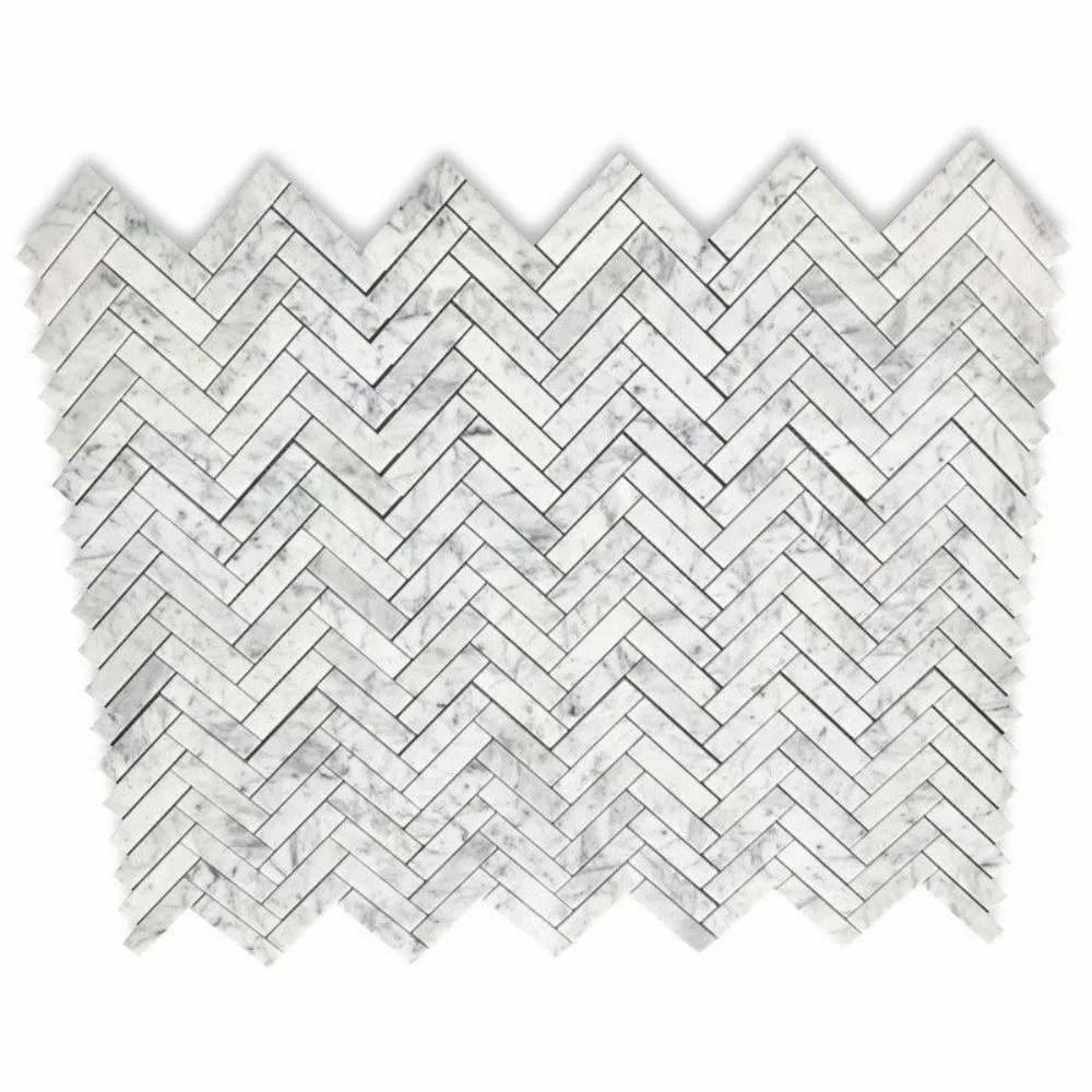 1 x 4 marble chevron mosaic wall floor tile