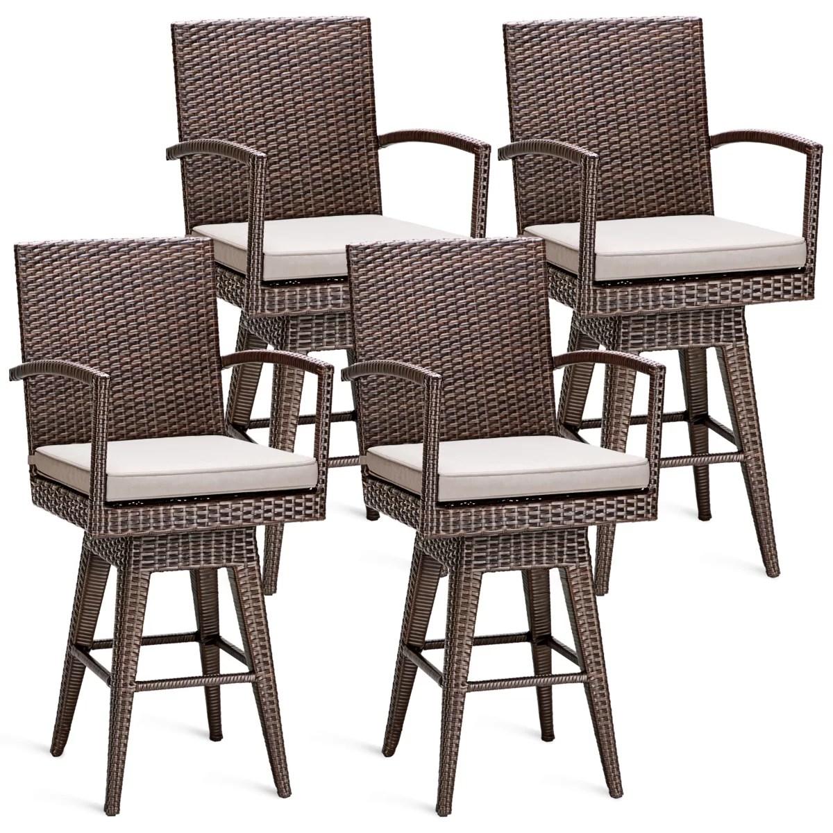 lacourse swivel 26 patio bar stool with cushion