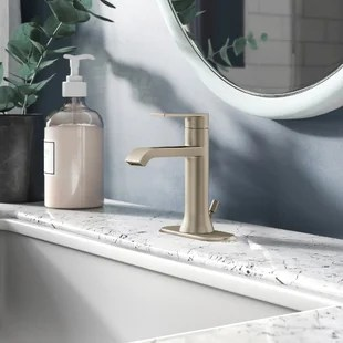genta lx single hole bathroom faucet with drain assembly