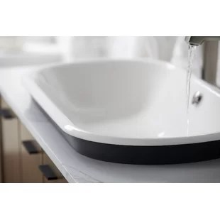 kohler iron plains capsule vessel drop in under mount bathroom sink with iron gate painted underside
