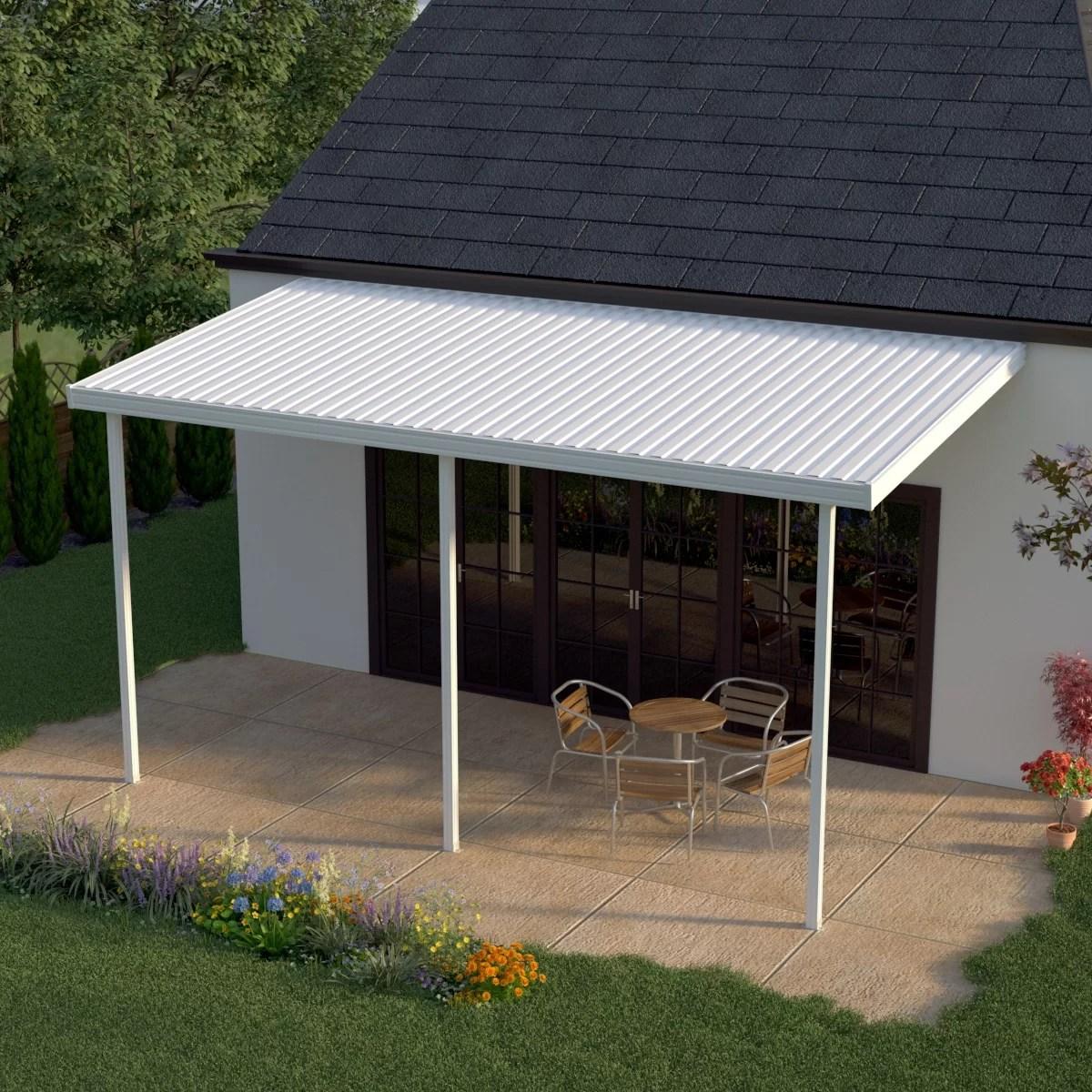 20 ft w x 8 ft d metal standard patio awning