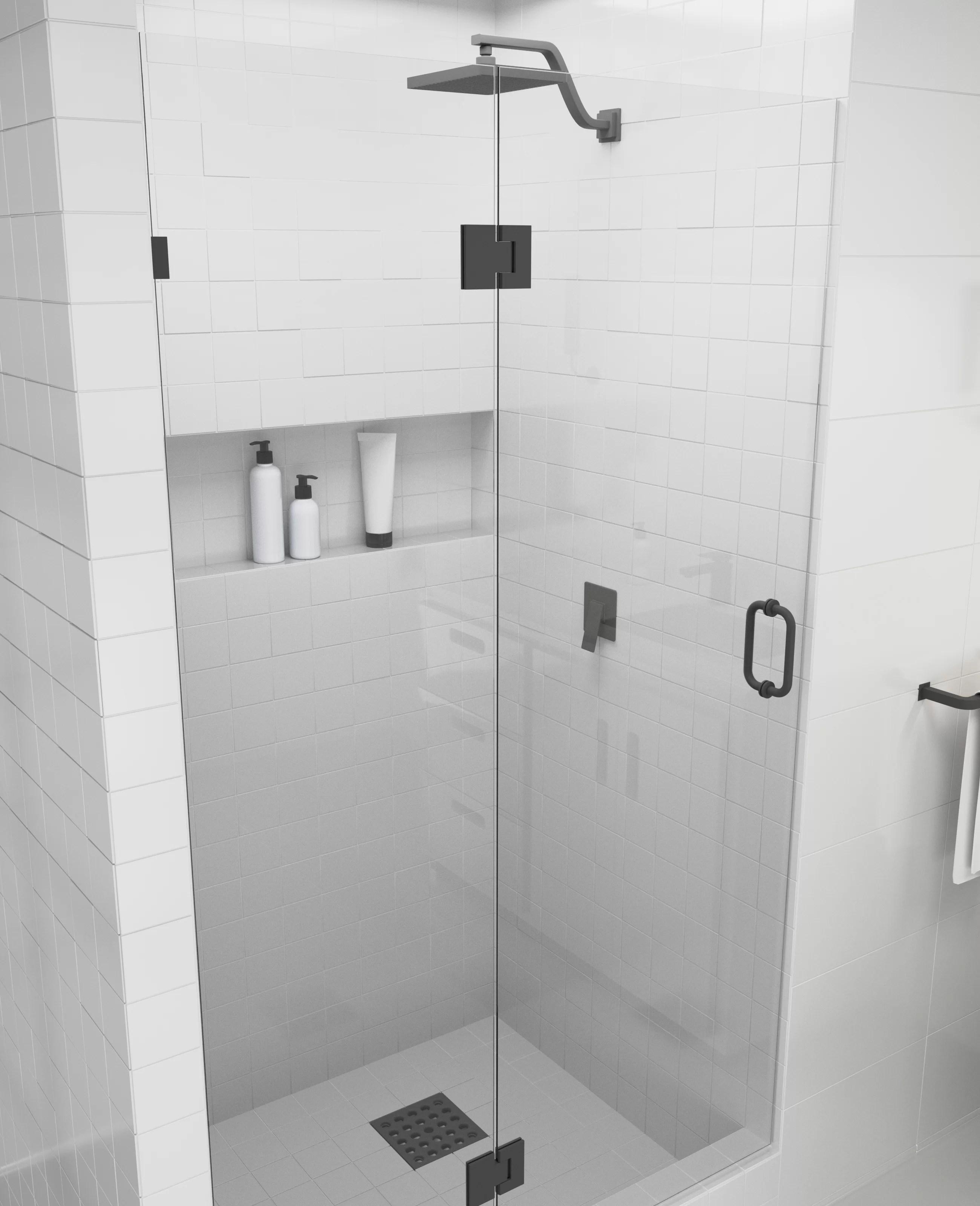 35 25 X 78 Hinged Frameless Shower Door