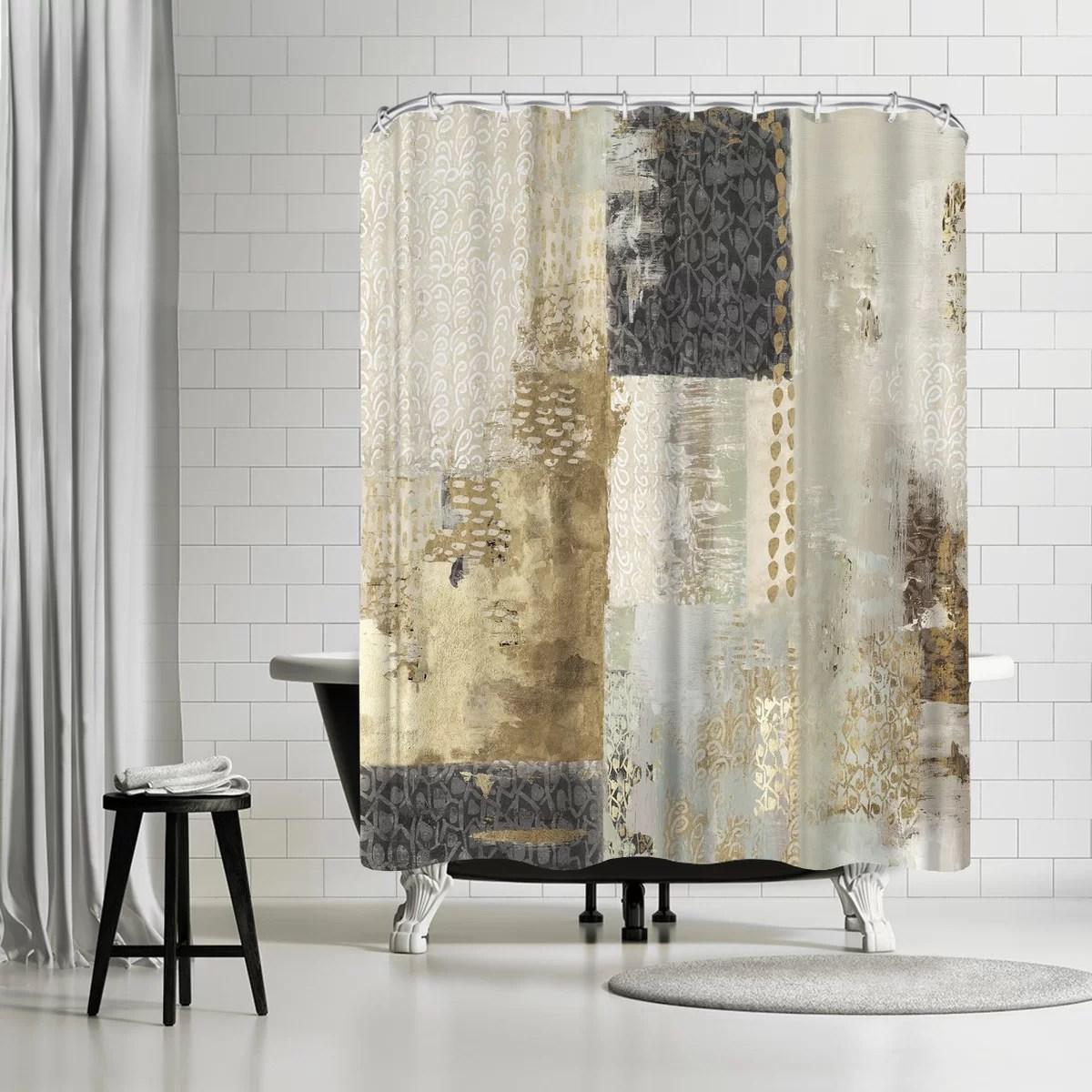 pi creative art bare i single shower curtain
