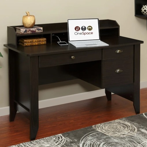 Three Posts Baker Computer Desk with Hutch   Reviews   Wayfair Baker Computer Desk with Hutch