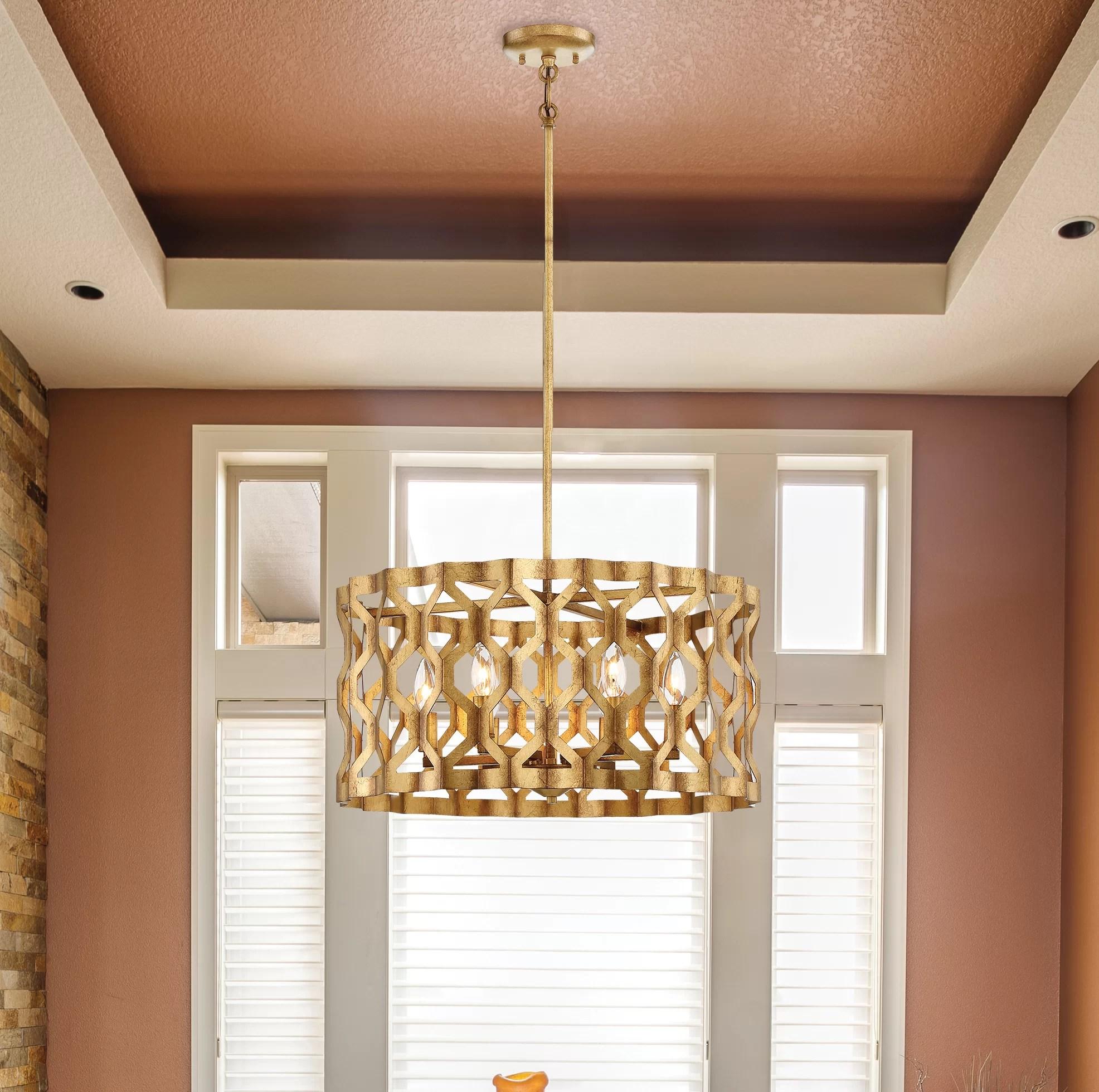 https www wayfair com lighting pdp metropolitan by minka coronade 5 light unique statement drum chandelier mbm2387 html