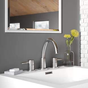 jeanie widespread bathroom faucet with drain assembly