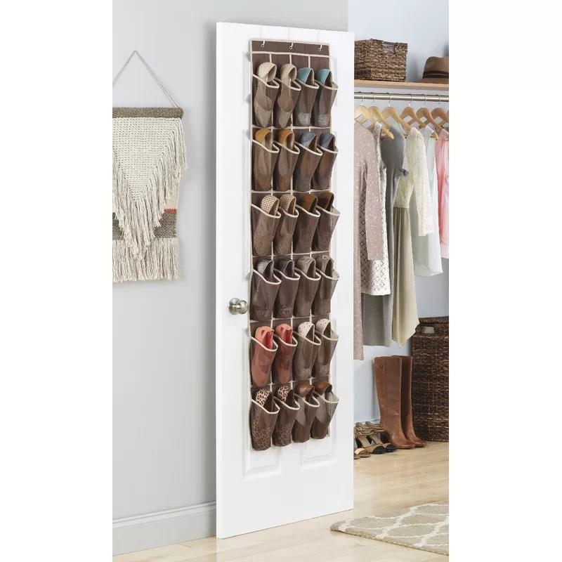 24 pocket 12 pair overdoor shoe organizer