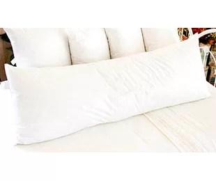plush down alternative body pillow