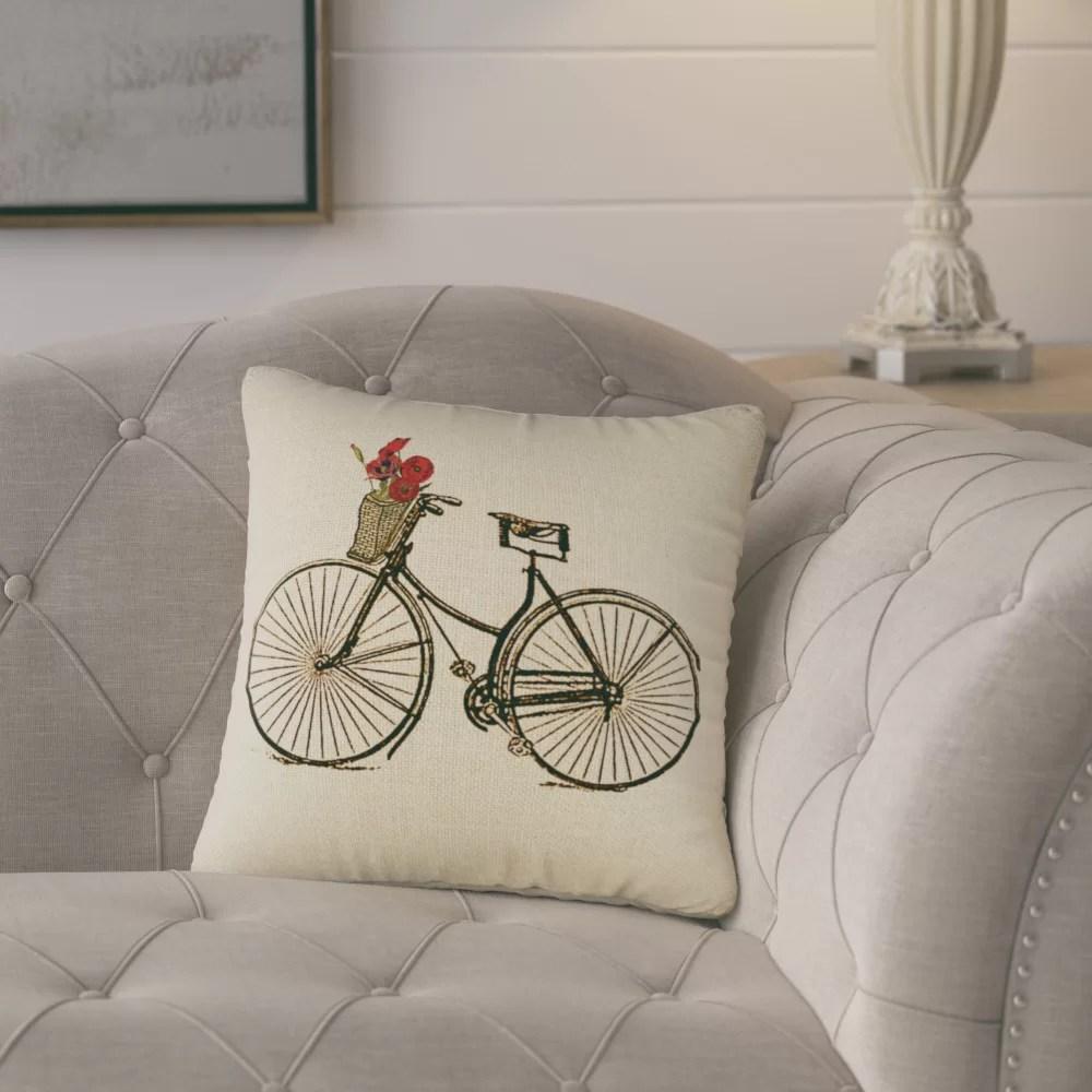 yair bike throw pillow