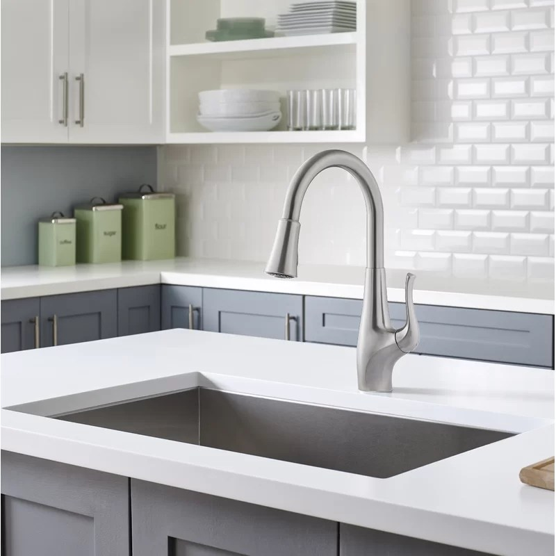 clarify pull down single handle kitchen faucet