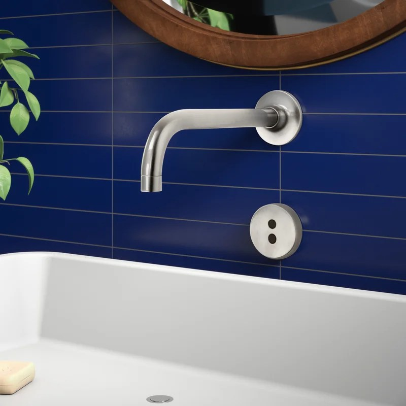 purist wall mount commercial bathroom sink faucet trim with 9 90 degree spout and insight technology