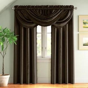 valerton solid blackout rod pocket single curtain panel
