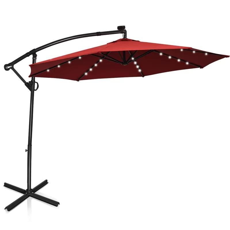 pate 120 lighted cantilever umbrella