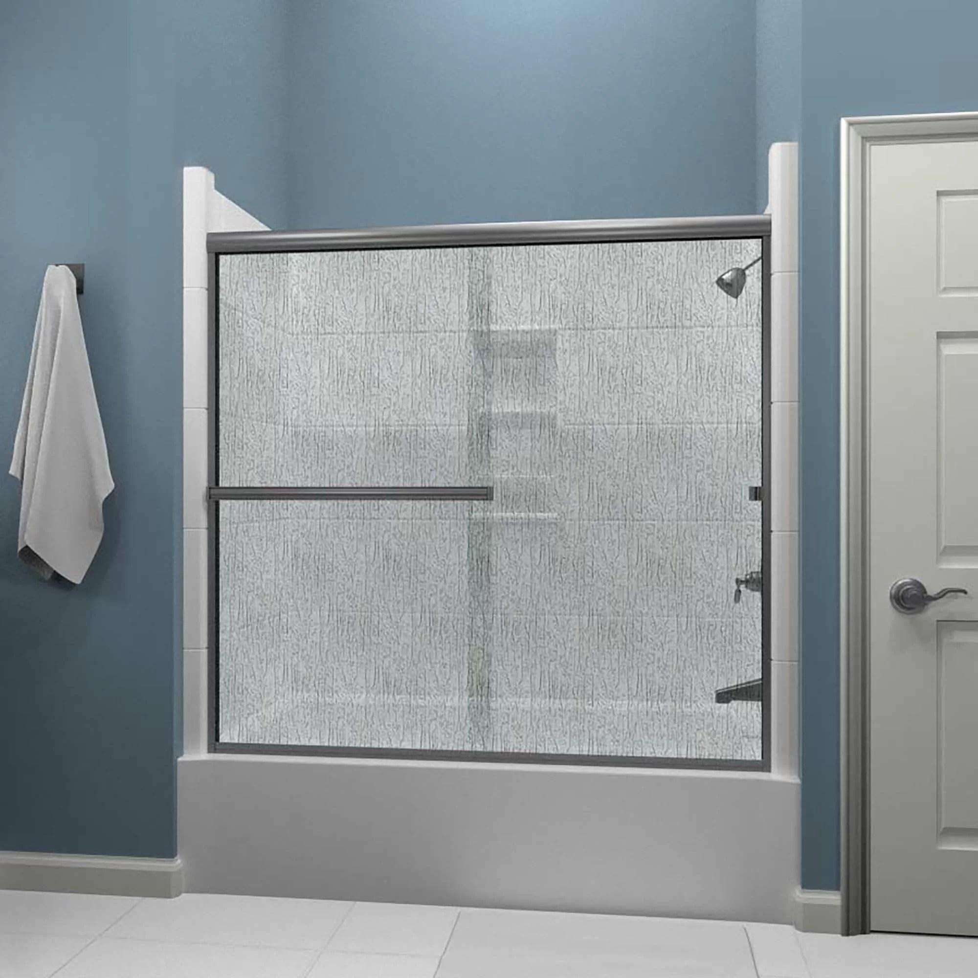Lete 56 X 55 Bypass Semi Frameless Tub Door