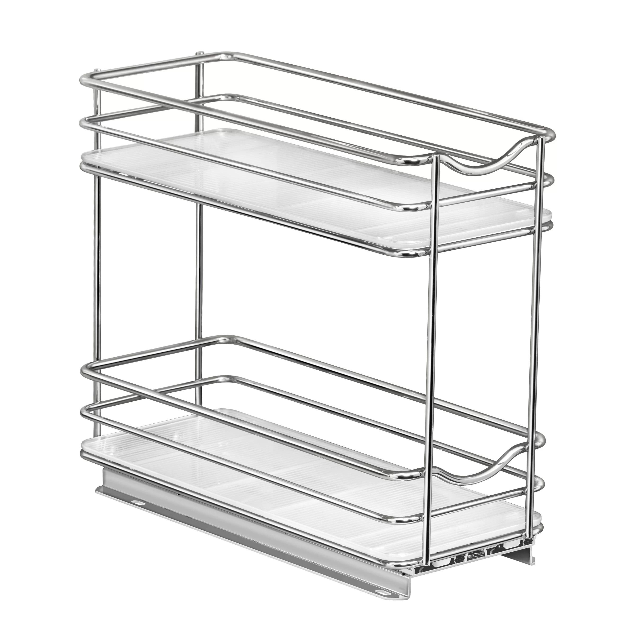 slide out double upper cabinet organizer 20 jar spice rack