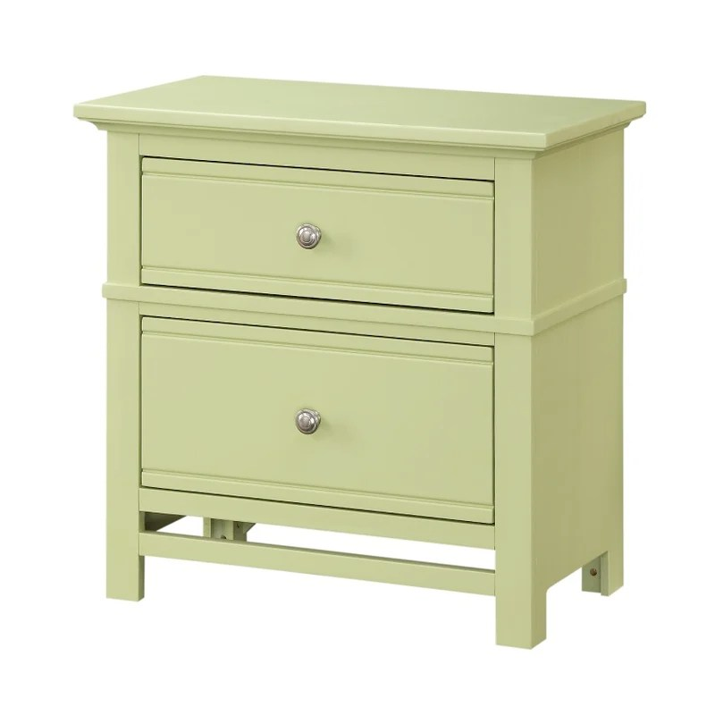lime green bedside table