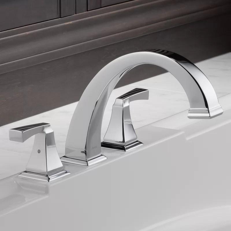 dryden double handle deck mounted roman tub faucet trim