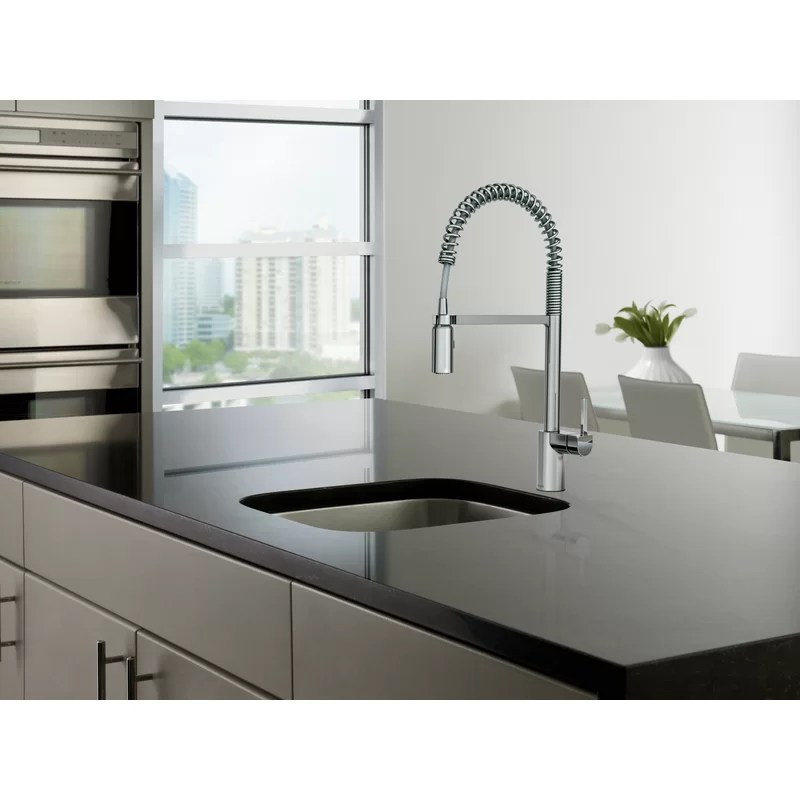 align pull down single handle kitchen faucet with duralock