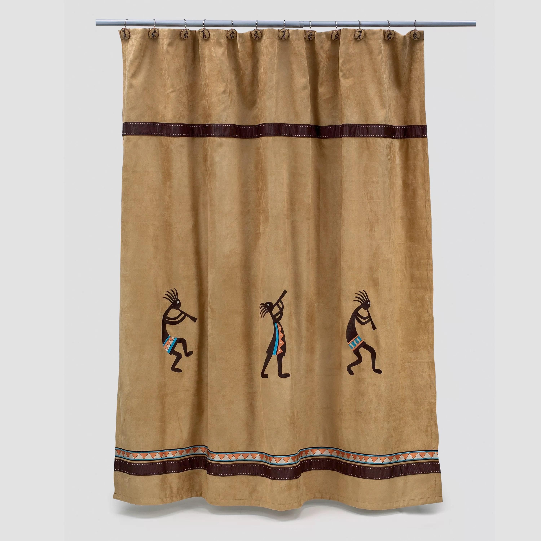 kokopelli single shower curtain