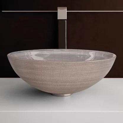 luxury round bathroom sinks perigold