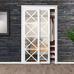 Mirrored Manufactured Wood Glass Lace Sliding Closet Door Reviews Birch Lane