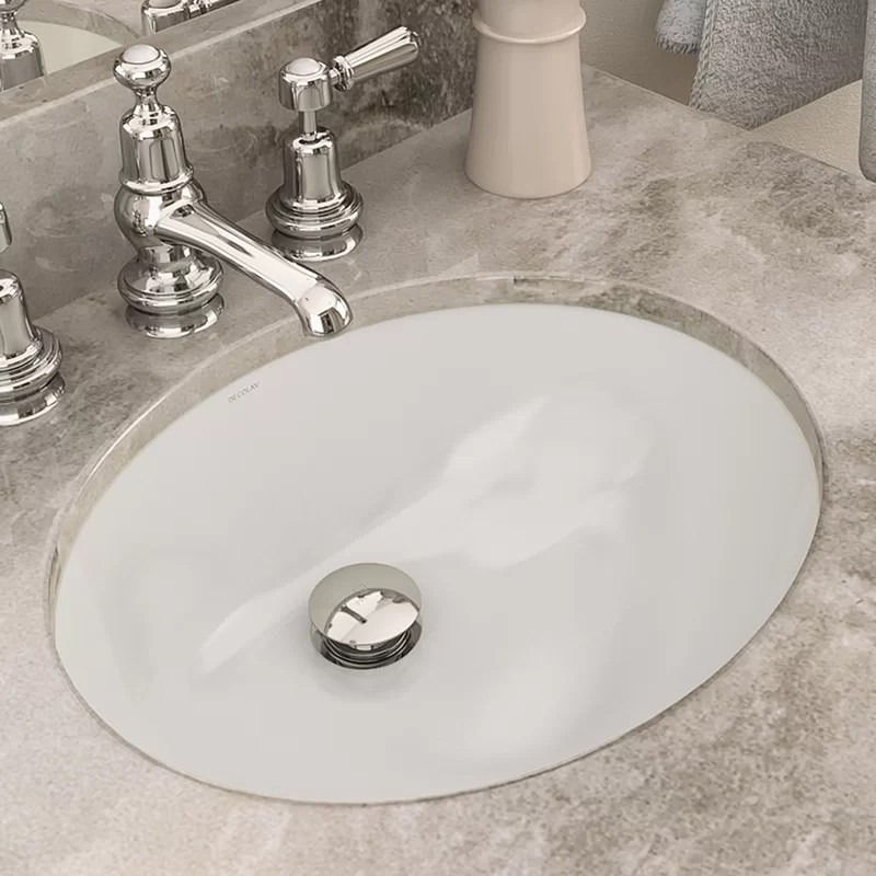 dhima vitreous china oval undermount bathroom sink with overflow