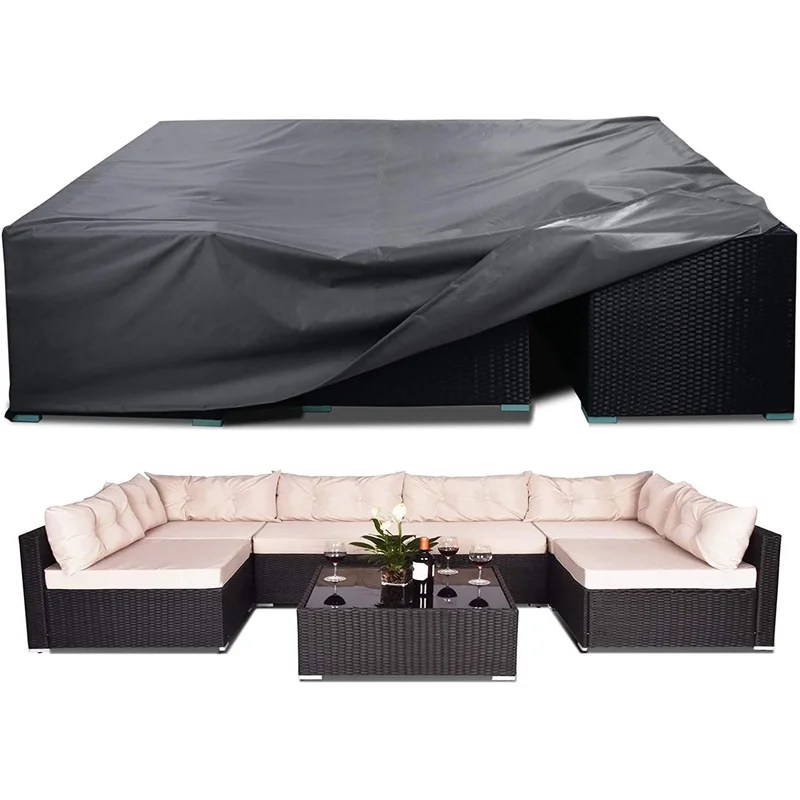 https www wayfair com storage organization pdp arlmont co 100 waterproof patio furniture covers anti uv snow proof outdoor sectional furniture cover fits 8 12 seat rectangular table chairs set covers with windproof buckles air vents 126x63x28 in w005219891 html