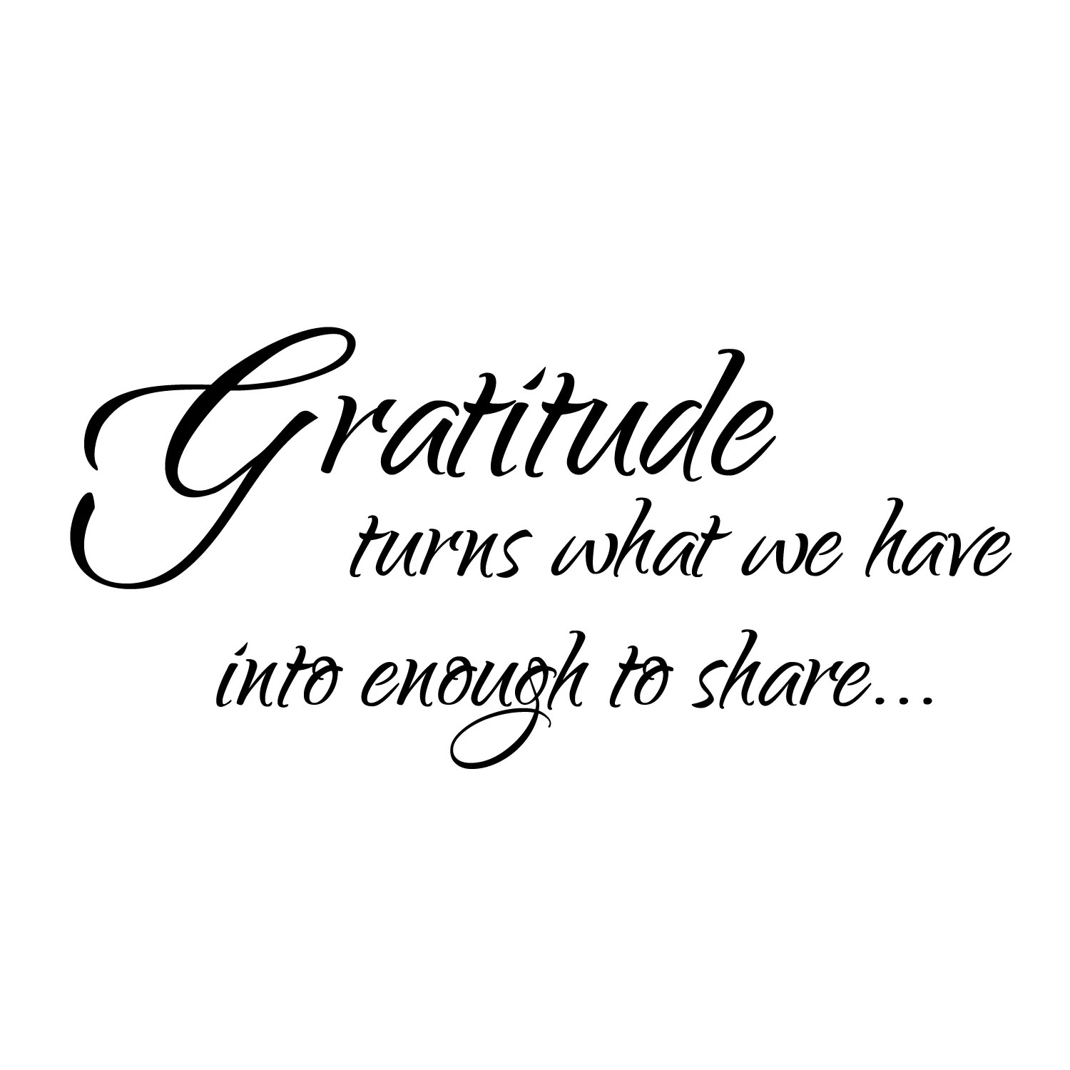 Firesidehome Gratitude Turns What We Have Into Enough To