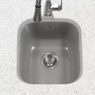 porcela 15 59 l x 17 32 w porcelain enamel steel undermount bar sink