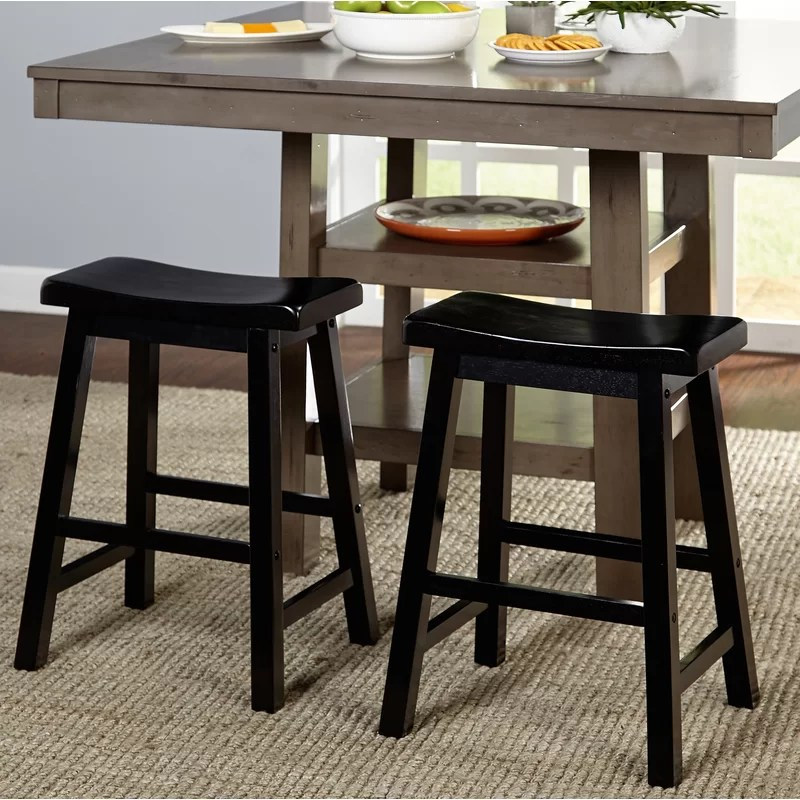Commercial Backless Wooden Bar Stools