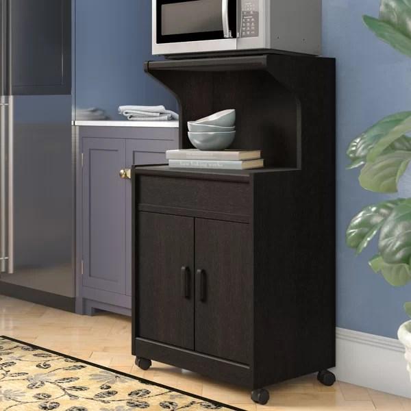 rustic microwave cart