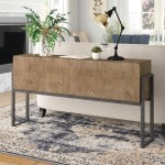 Gracie Oaks Thomasina Contemporary Sofa Console Table Reviews Wayfair