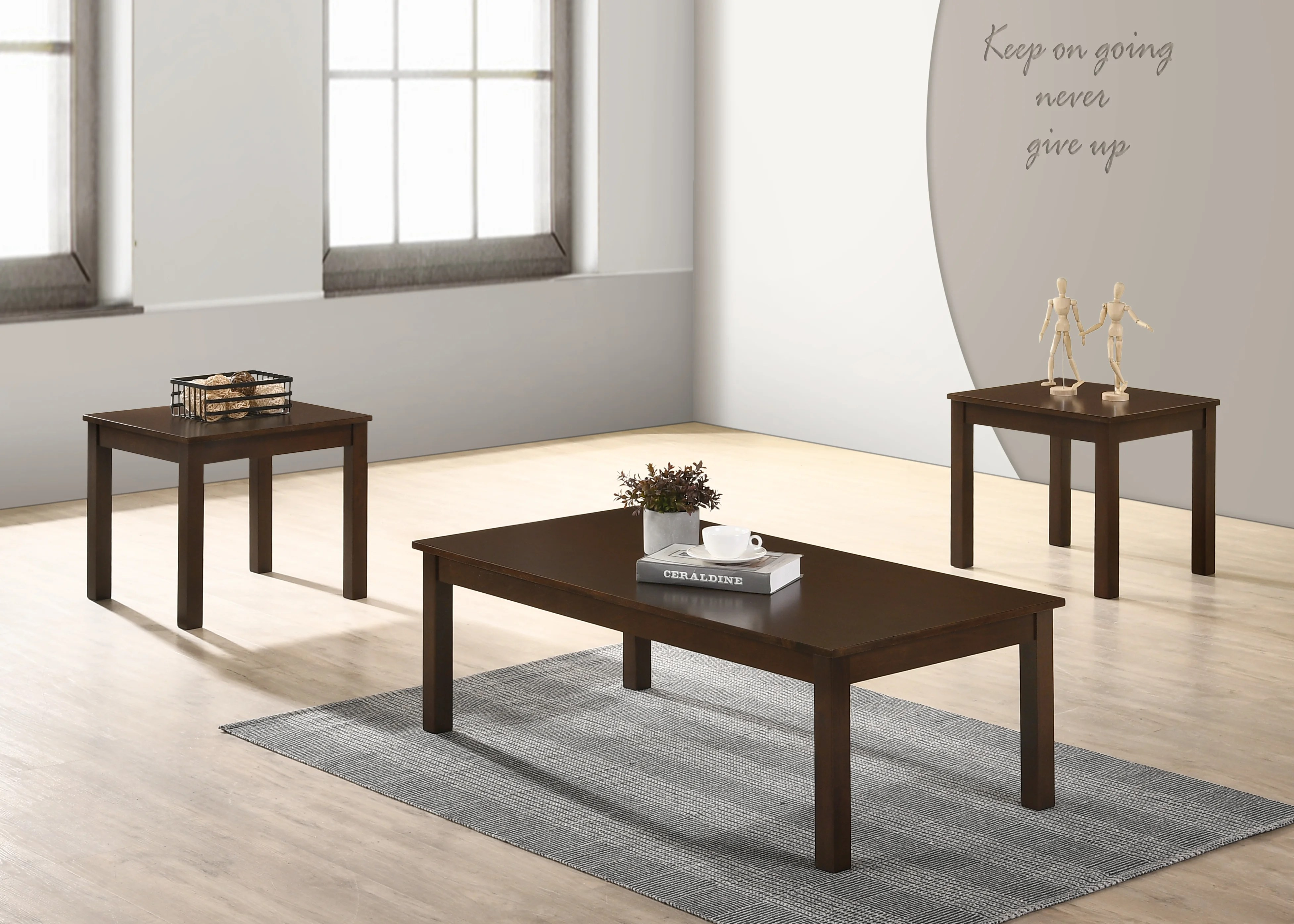 solid wood coffee table sets you ll