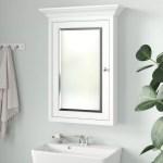 Charlton Home Vasilikos Surface Mount Framed 1 Door Medicine Cabinet With 4 Adjustable Shelves Reviews