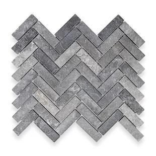 herringbone 1 x 3 marble mosaic tile