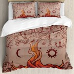 Ambesonne Indian Vintage Tree Of Life With Sun And Moon Duvet Cover Set Wayfair