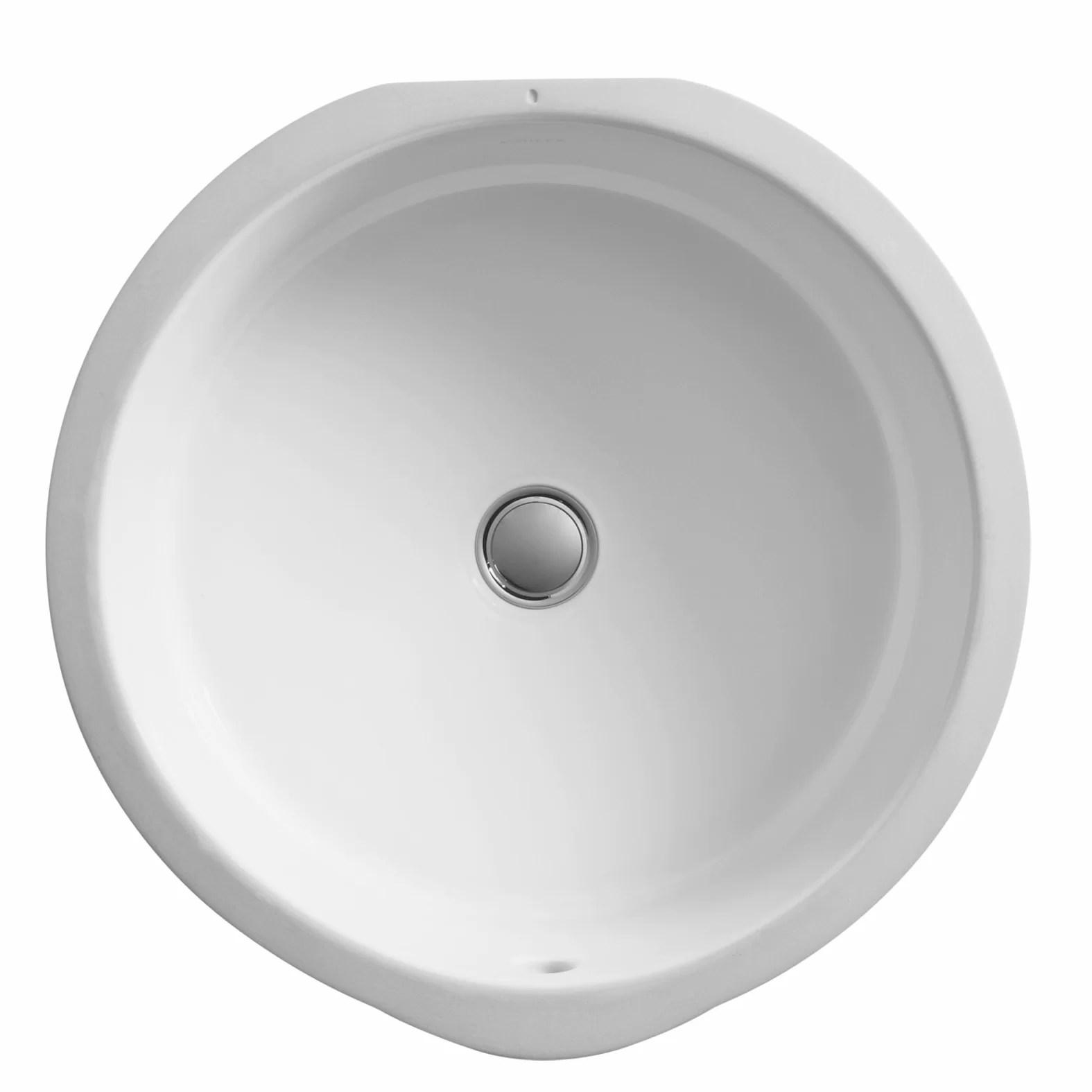 verticyl ceramic round undermount bathroom sink with overflow