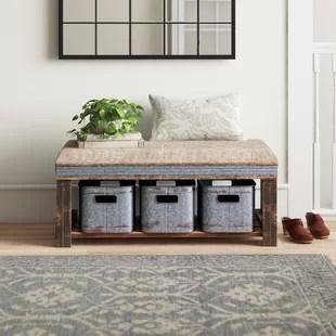 bonnard upholstered storage bench