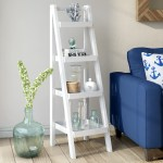 Beachcrest Home Hensley 53 5 H X 15 W Ladder Bookcase Reviews Wayfair
