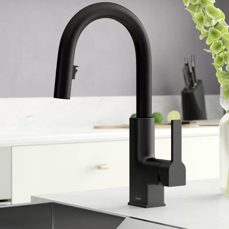sto pull down single handle kitchen faucet