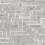 Msi Carrara Herringbone 1 X 3 Marble Mosaic Tile