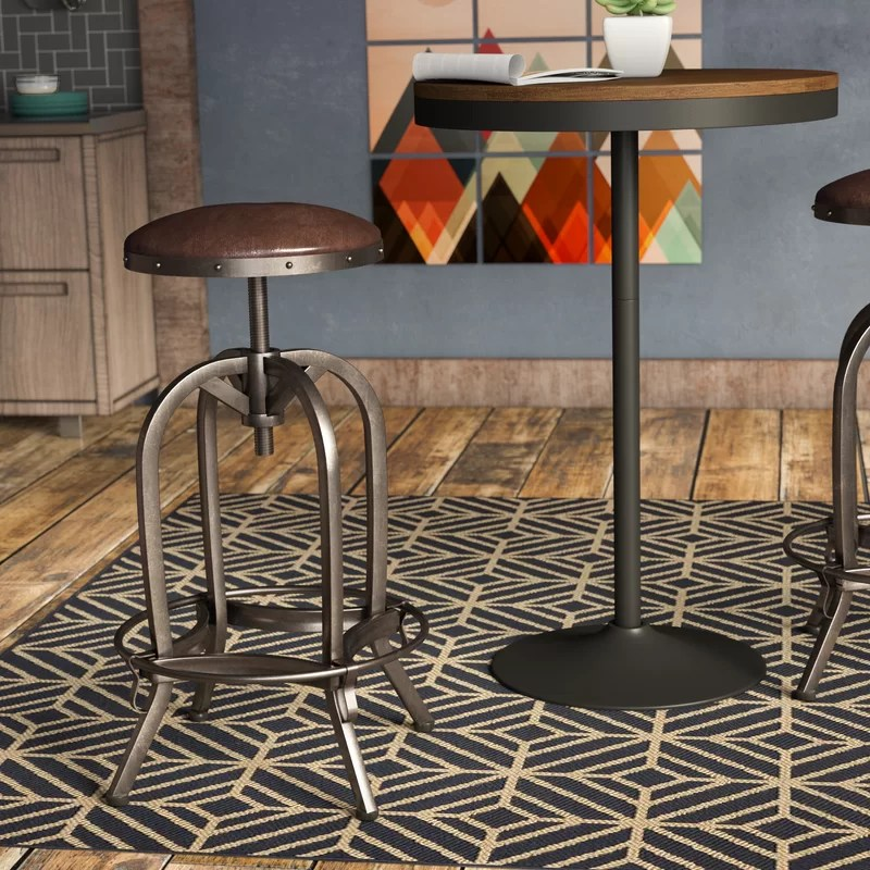 Mira Adjustable Height Swivel Bar Stool