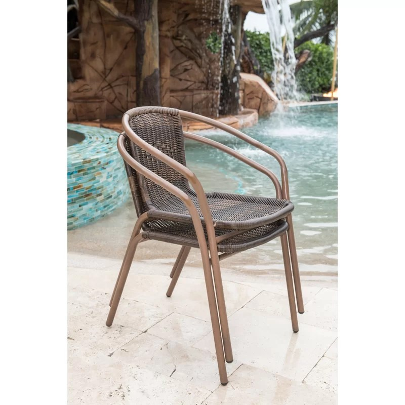 cafe stacking patio dining chair