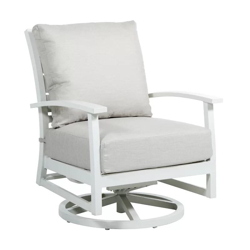 charleston swivel patio chair with cushion
